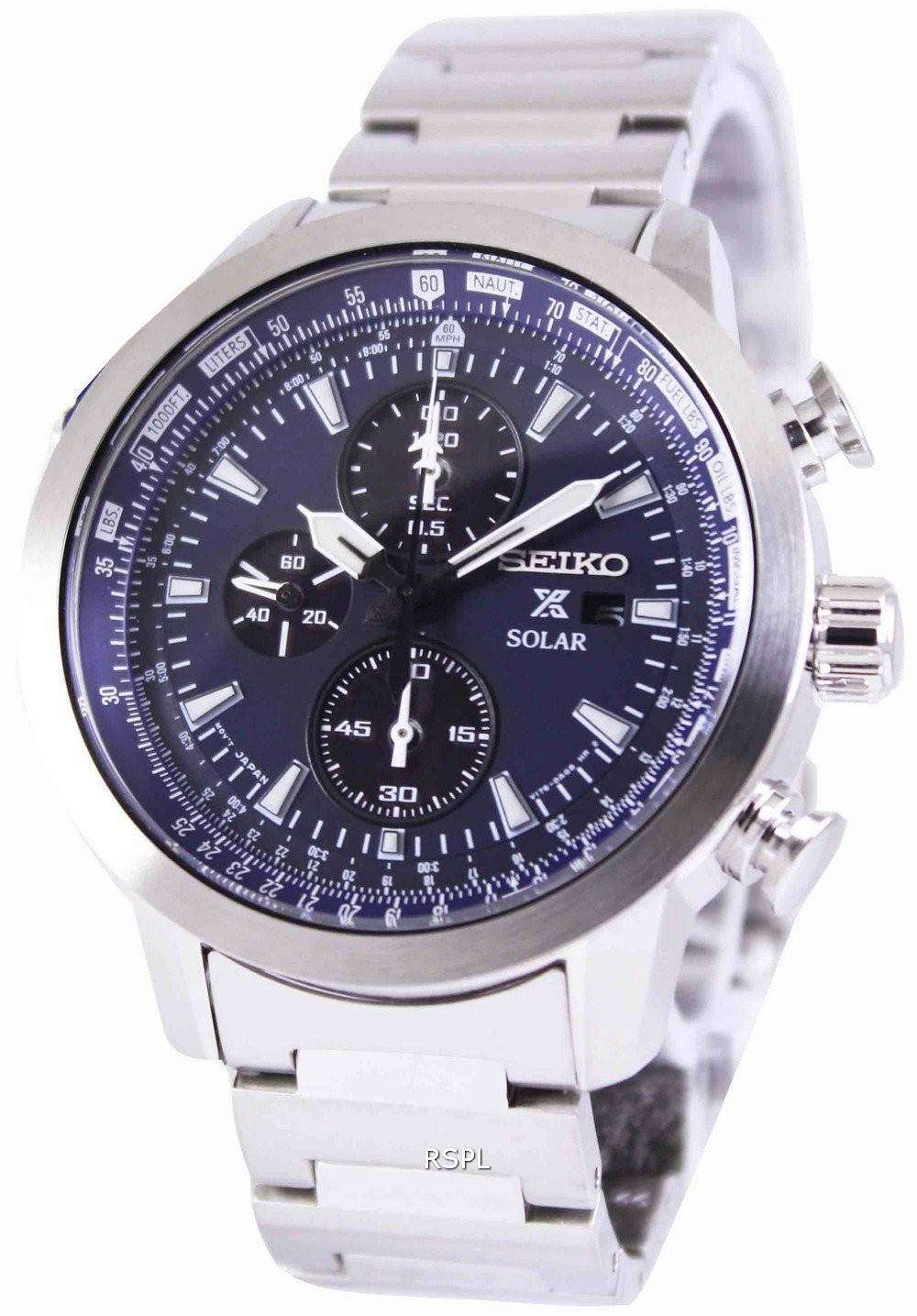 seiko prospex sky solar chronograph pilots ssc347p1. Black Bedroom Furniture Sets. Home Design Ideas
