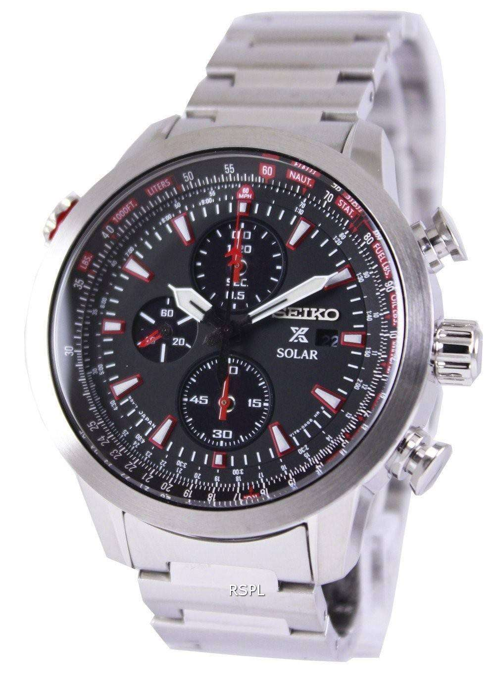 seiko prospex sky solar chronograph pilots ssc349p1. Black Bedroom Furniture Sets. Home Design Ideas