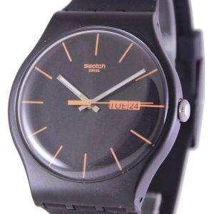 Swatch Originals Dark Rebel Swiss Quartz SUOB704 Unisex Watch