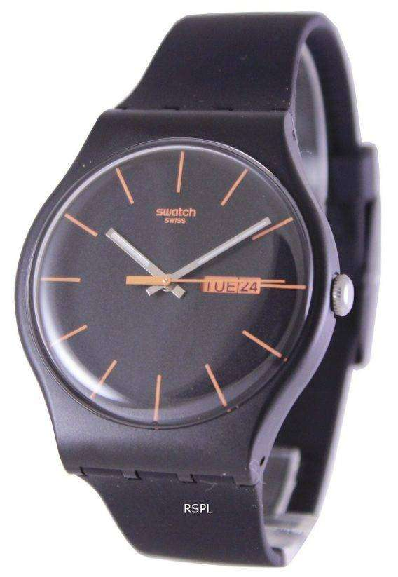 Swatch Originals Dark Rebel Swiss Quartz SUOB704 Unisex Watch 1