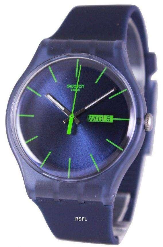 Swatch Originals Blue Rebel Swiss Quartz SUON700 Unisex Watch 1