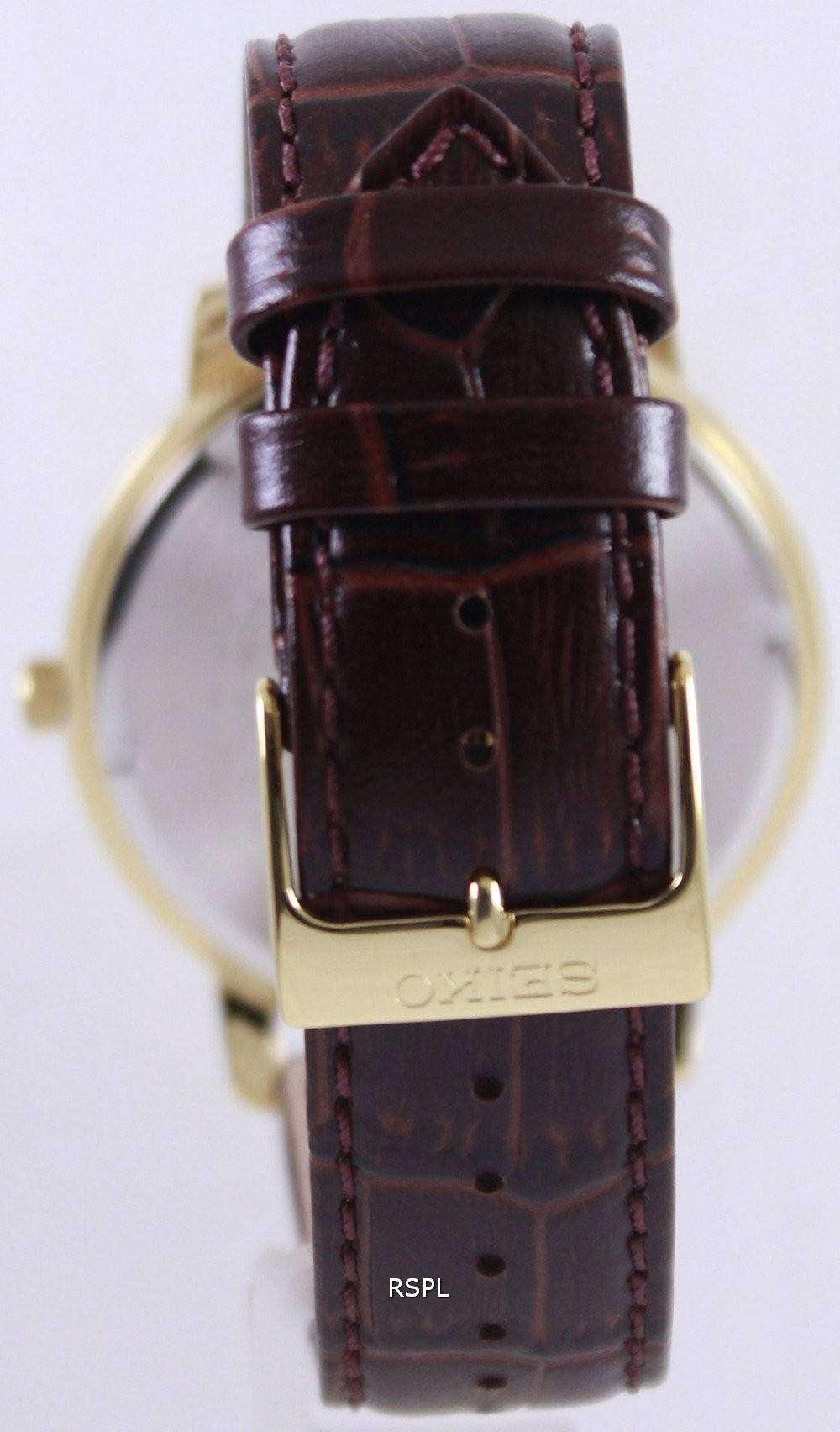 Seiko quartz leather strap sur114p1 sur114p mens watch downunderwatches for Men gradient leather strap