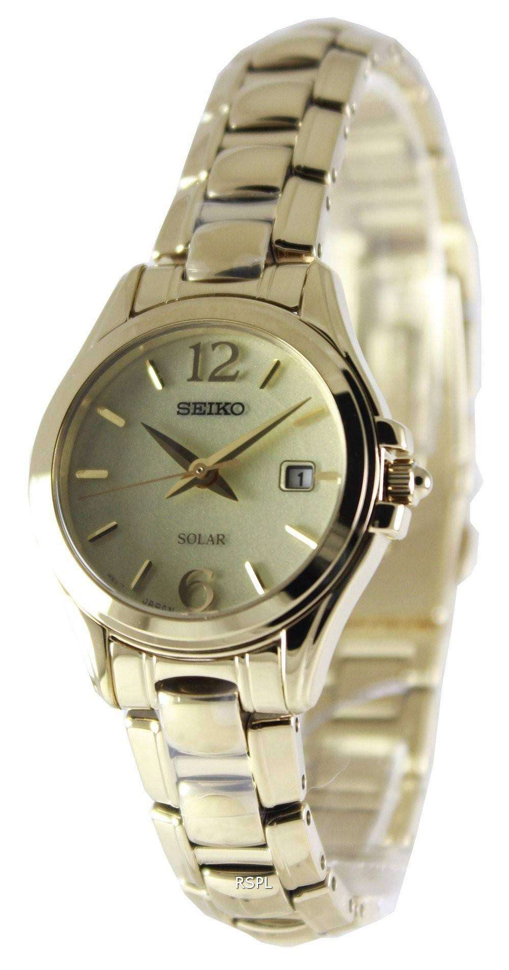 Seiko solar power reserve sut236p1 sut236p women 39 s watch downunderwatches for Solar power watches