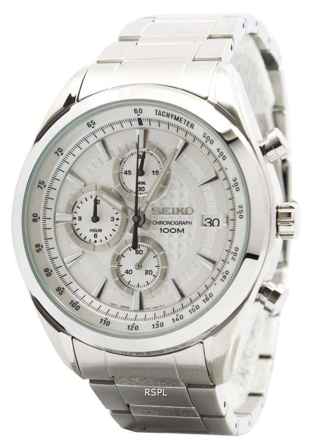 outlet store dc166 afd88 Seiko Quartz Chronograph SSB173P1 SSB173P Mens Watch