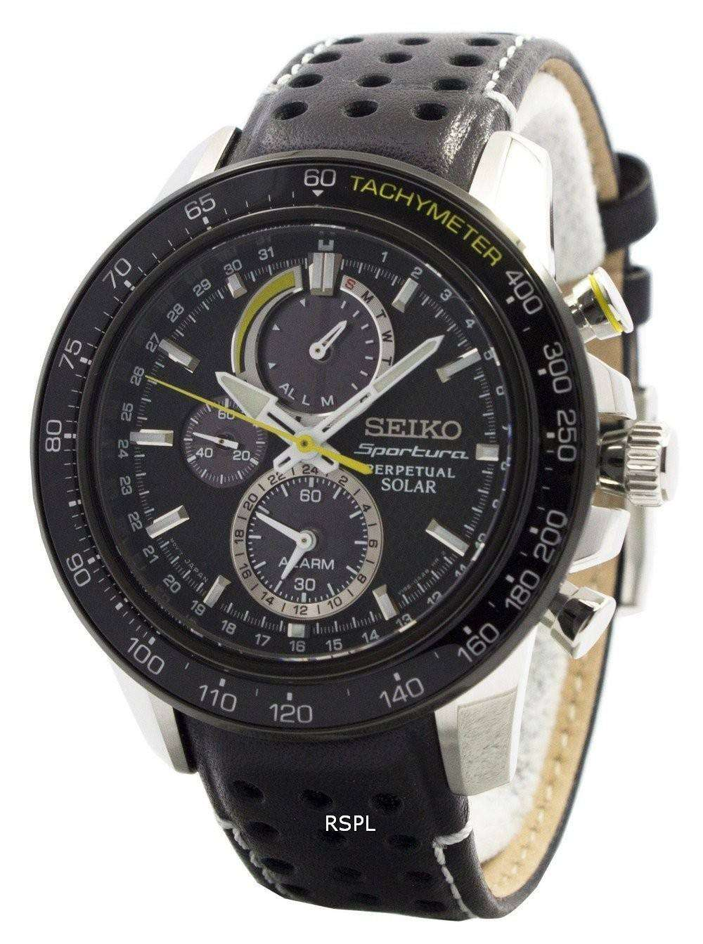 seiko sportura solar chronograph perpetual ssc361p1. Black Bedroom Furniture Sets. Home Design Ideas