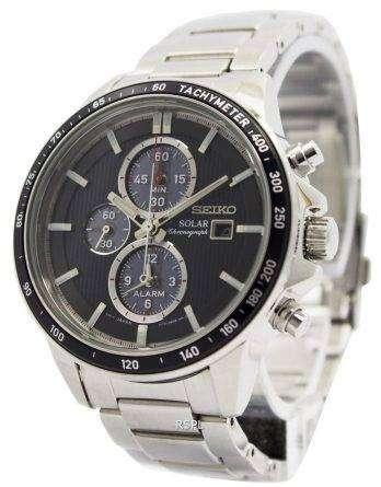 Seiko Solar Chronograph Alarm SSC435P1 SSC435P Men's Watch