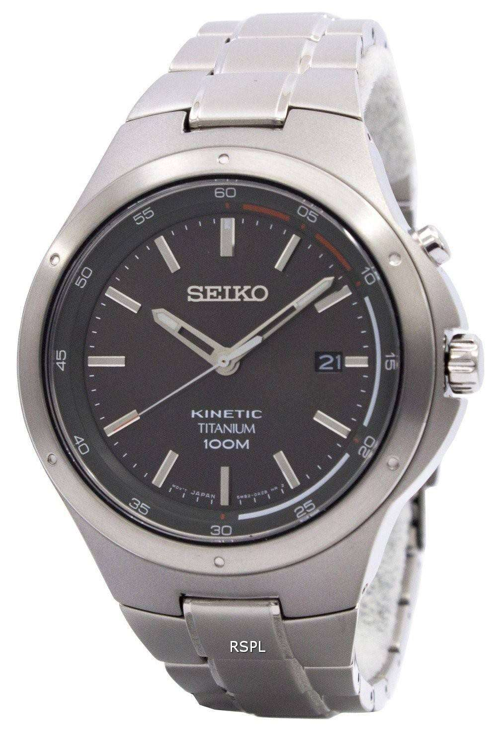 Seiko kinetic titanium power reserve ska713p1 ska713p ska713 men 39 s watch downunderwatches for Titanium watches