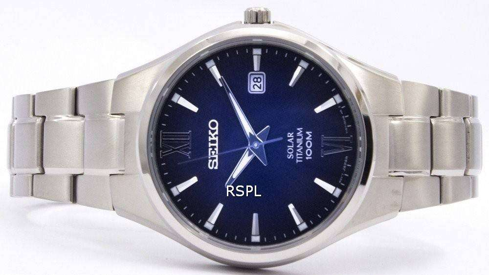 Sne Stock Price >> Seiko Solar Titanium Power Reserve SNE407P1 SNE407P SNE407 Men's Watch - DownUnderWatches