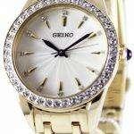 Seiko Quartz Swarovski Crystals SRZ386P1 SRZ386P Women's Watch