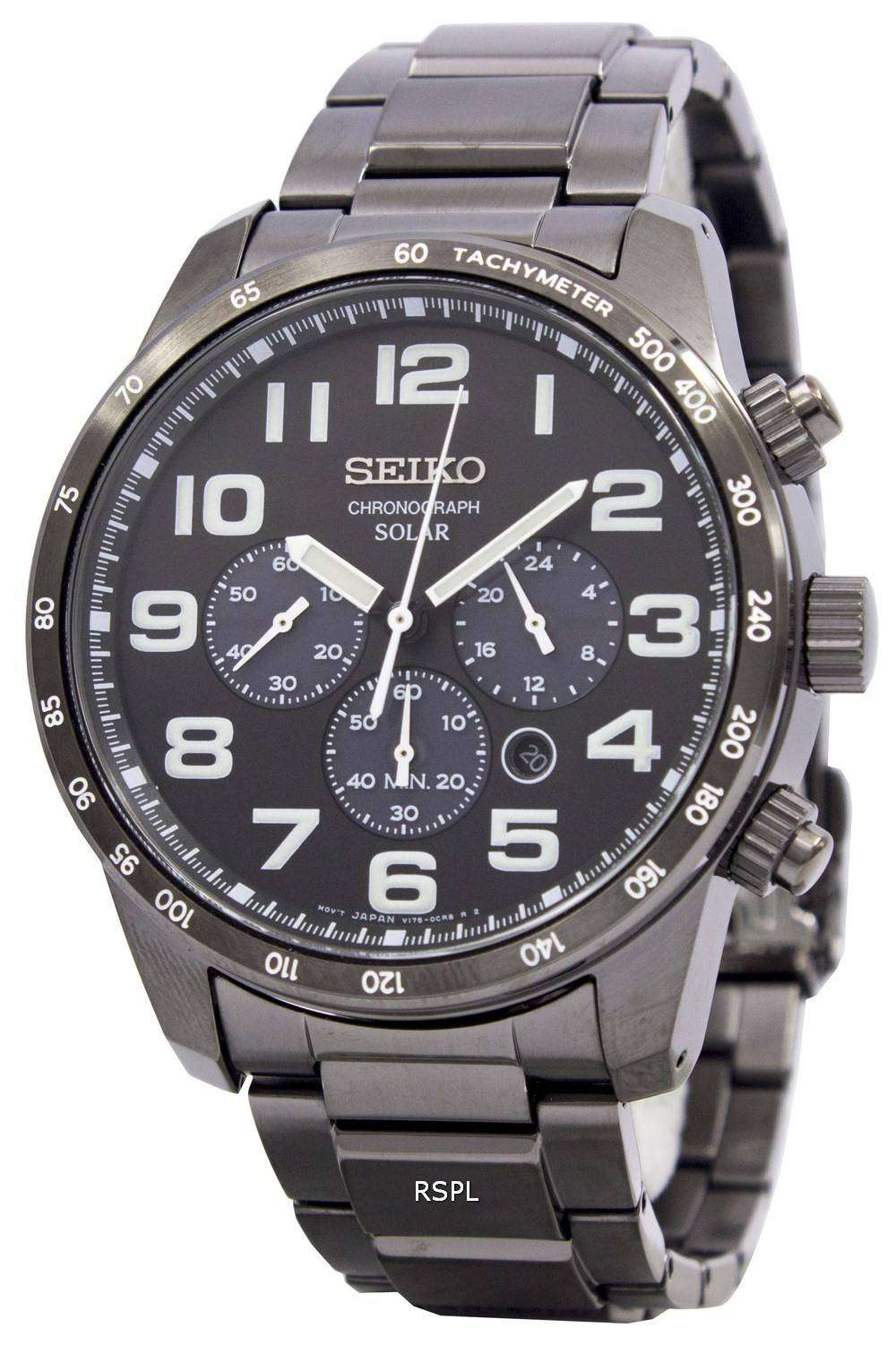 Seiko solar chronograph ssc231 ssc231p1 ssc231p mens watch downunderwatches for Seiko solar