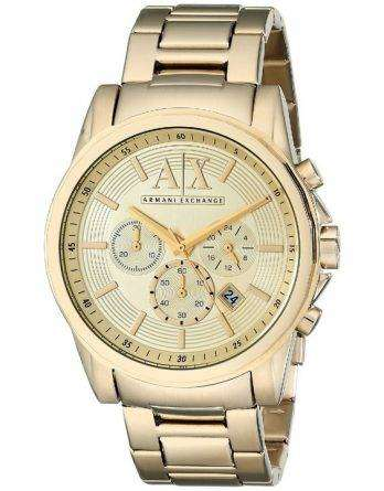 Armani Exchange Quartz Chronograph Gold Tone AX2099 Men's Watch