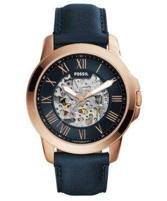 Fossil Grant Automatic Navy Blue Skeleton Dial ME3102 Mens Watch