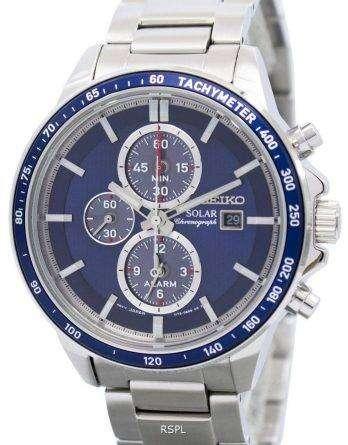 Seiko Solar Chronograph Alarm SSC431 SSC431P1 SSC431P Men's Watch