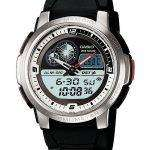 Casio Analog Digital World Time Lap Memory AQF-102W-7BV Mens Watch