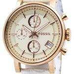 Fossil Original BoyFriend Chronograph Stainless Steel C181020-WHT Womens Watch