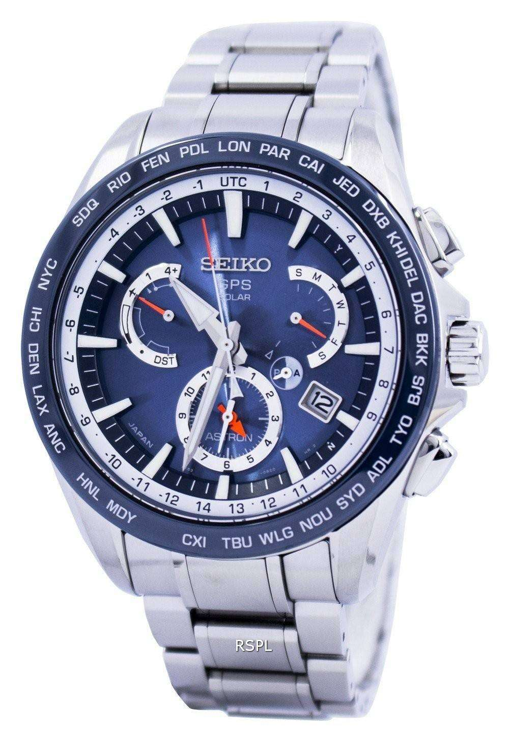Seiko Astron Gps Solar Dual Time Japan Made Sse053