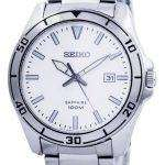 Seiko Quartz Sapphire Glass White Dial SGEH59 SGEH59P1 SGEH59P Mens Watch