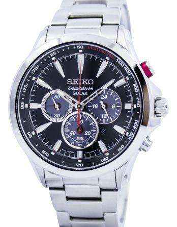 Seiko Solar Chronograph Tachymeter SSC493 SSC493P1 SSC493P Mens Watch