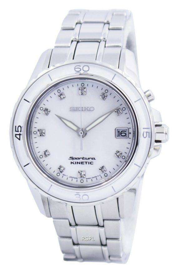 Seiko Sportura Kinetic Diamond Accent SKA881 SKA881P1 SKA881P Womens Watch