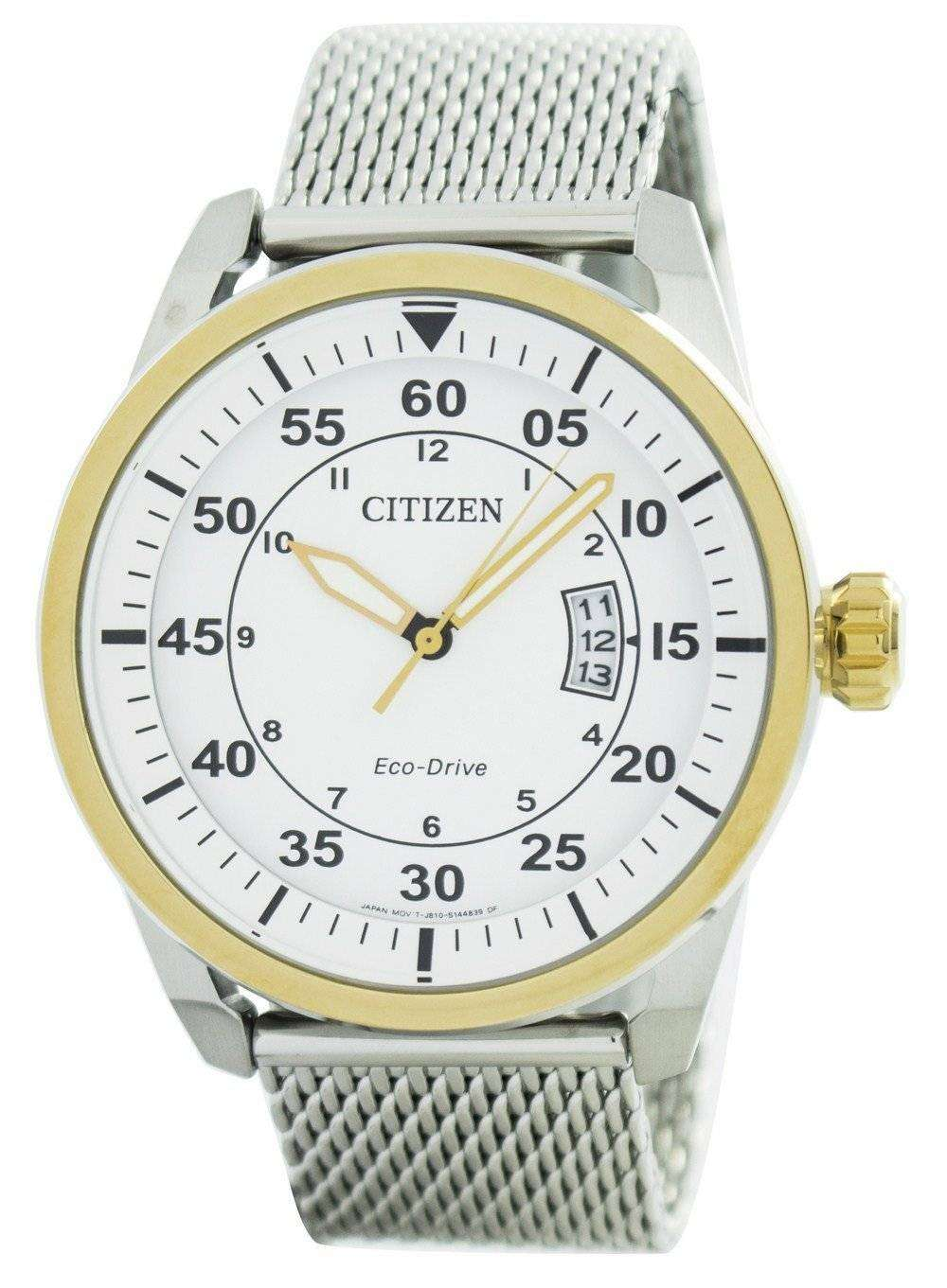 the latest b4ef6 60282 Citizen Aviator Eco-Drive Mesh Band AW1364-54A Men's Watch