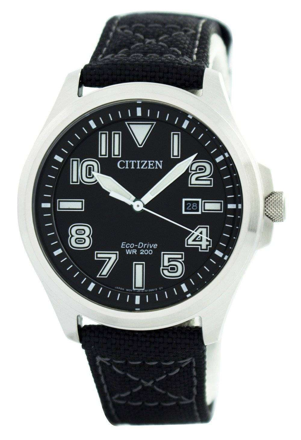 Citizen eco drive military 200m aw1410 24e men 39 s watch downunderwatches for Eco drive watch