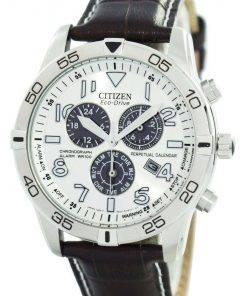 Citizen Eco-Drive Perpetual Calendar Chronograph Alarm 100M BL5470-06A Men's Watch