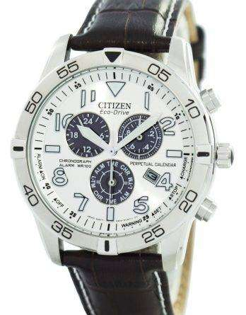 Citizen Eco-Drive Perpetual Calendar Chronograph Alarm 100M BL5470-06A Men's Watch