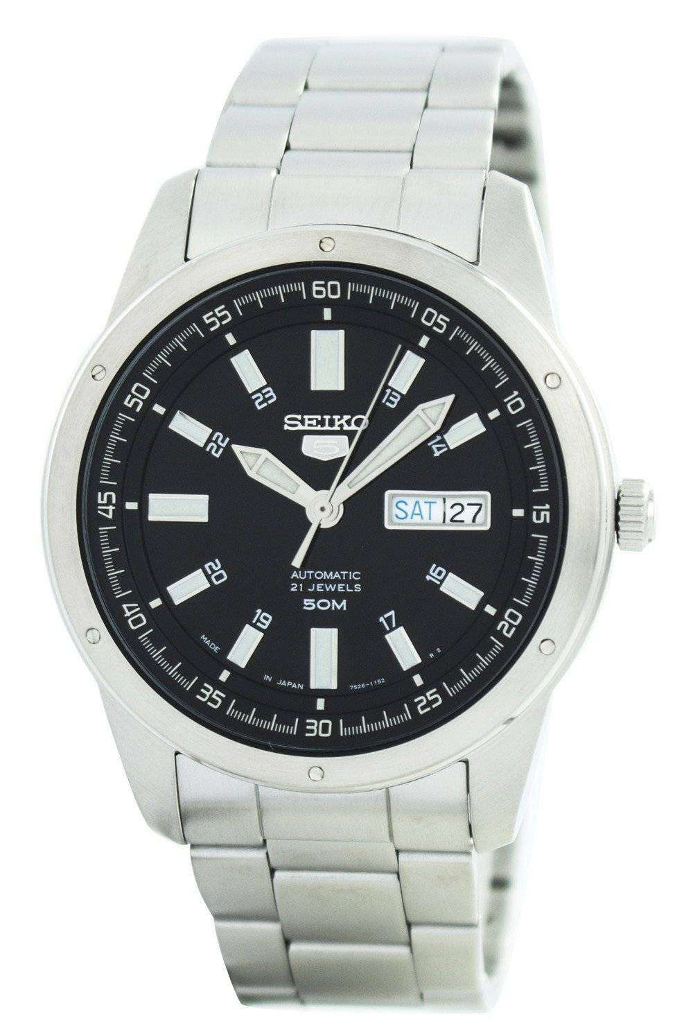 Seiko 5 automatic 21 jewels japan made snkn13 snkn13j1 snkn13j men 39 s watch downunderwatches for Watches of japan