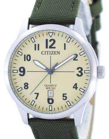 Citizen Quartz Champagne Dial BI1050-05X Mens Watch