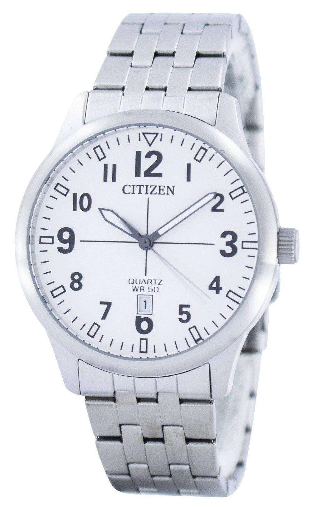Citizen Quartz White Dial Bi1050 81b Mens Watch