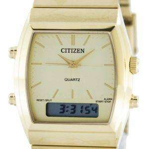 Citizen Quartz Alarm Chronograph Analog Digital JM0542-56P Mens Watch