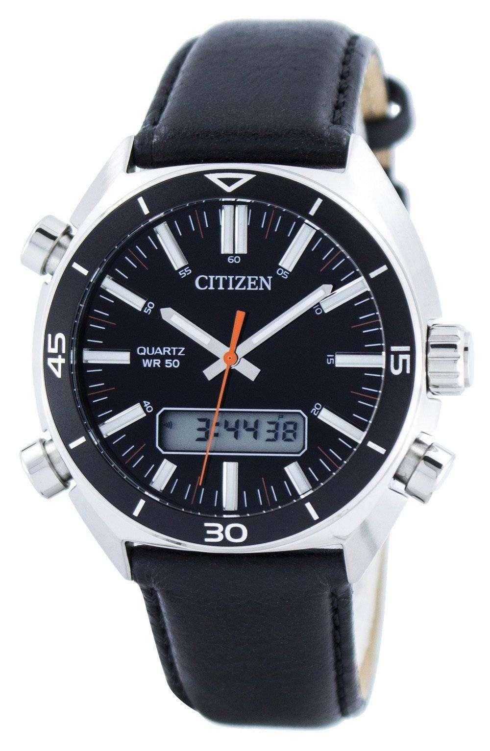 citizen quartz alarm chronograph analog digital jm5460 01e