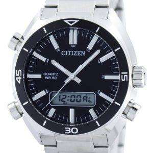 Citizen Quartz Alarm Chronograph Analog Digital JM5460-51E Mens Watch