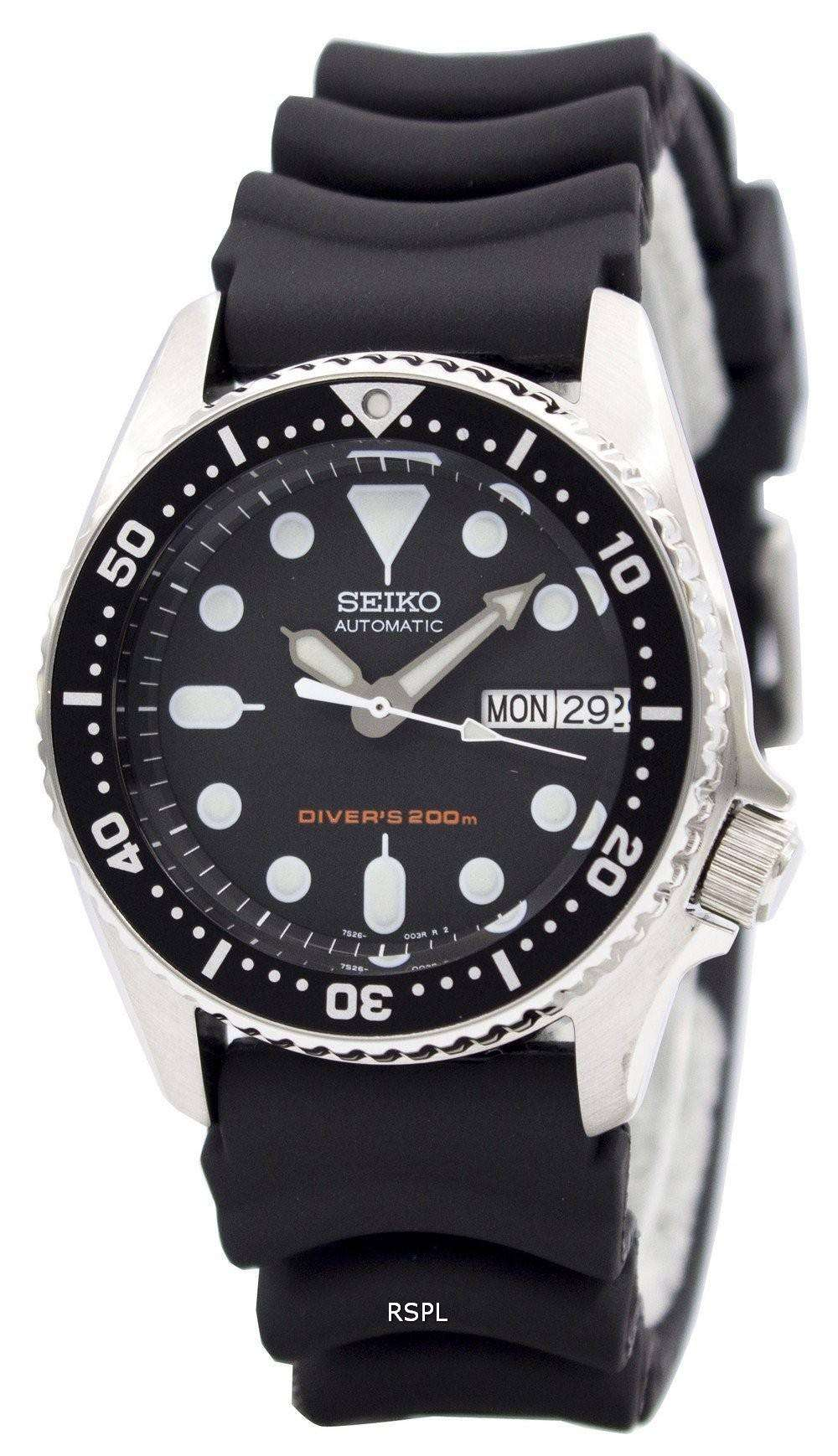 Seiko Mid Size Divers 200m Automatic Watch Skx013k1