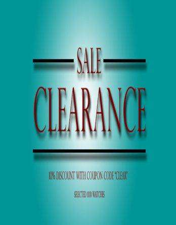 Clearance Sale Watches