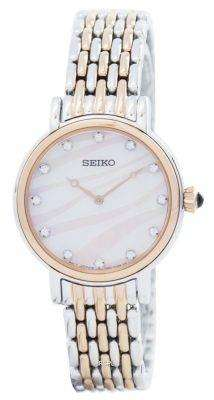Seiko Quartz Swarovski Crystals SFQ806 SFQ806P1 SFQ806P Women's Watch 1