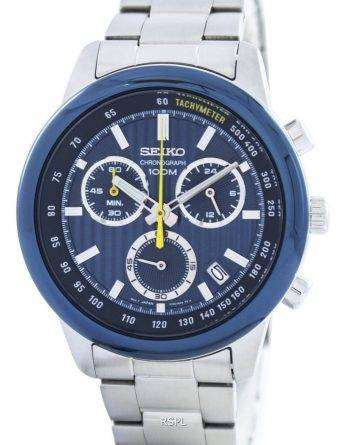 Seiko Sports Chronograph Quartz Tachymeter SSB207 SSB207P1 SSB207P Men's Watch