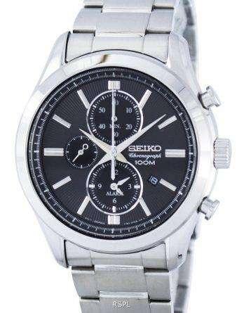 Seiko Chronograph Quartz Alarm SNAF67 SNAF67P1 SNAF67P Men's Watch