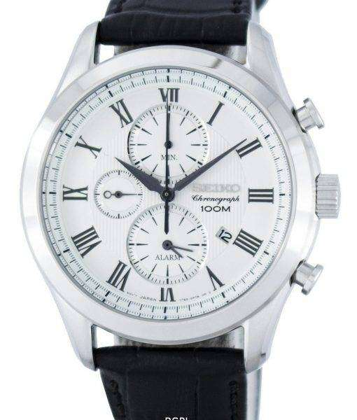 Seiko Chronograph Quartz Alarm SNAF69P Men's Watch