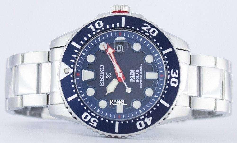Sne Stock Price >> Seiko Prospex PADI Special Edition Solar Diver's 200M SNE435 SNE435P1 SNE435P Men's Watch ...