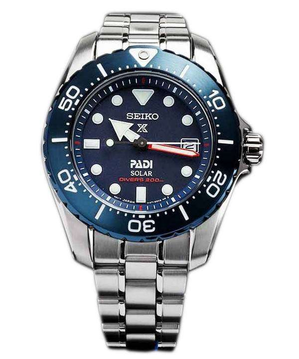 Seiko prospex padi titanium solar divers 200m limited edition sbdn035 womens watch for Titanium watches