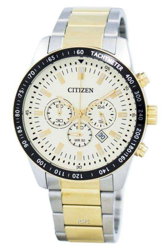 Citizen Quartz Chronograph Tachymeter AN8076-57P Men's Watch 1