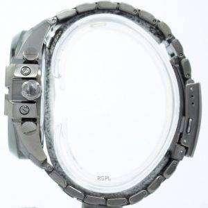 Diesel Mega Chief Quartz Chronograph Grey Dial Black IP DZ4282 Mens Watch