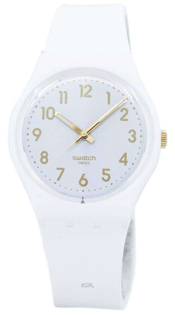 Swatch Originals White Bishop Quartz GW164 Unisex Watch 1