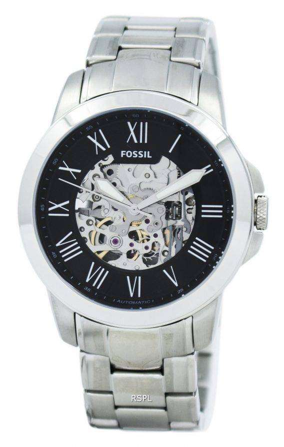 Fossil Grant Automatic Black Skeleton Dial ME3103 Mens Watch 1