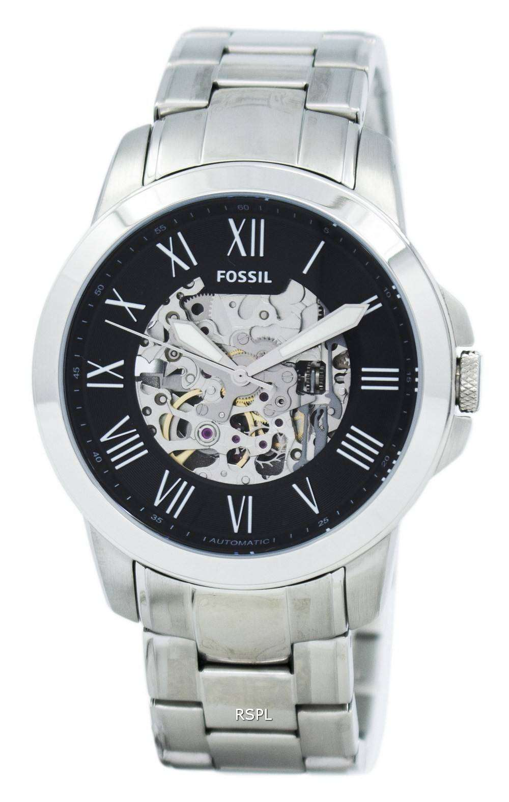 569ca8d7a8c3 Fossil Grant Automatic Black Skeleton Dial ME3103 Mens Watch 1 ...