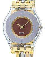 Swatch Skin Tri Gold Quartz SFK240A Women's Watch