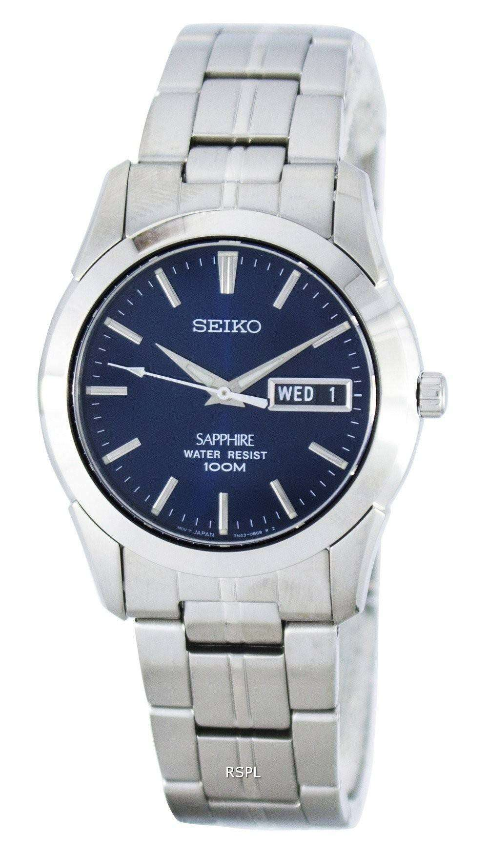 seiko sapphire sgg717 sgg717p1 sgg717p mens watch. Black Bedroom Furniture Sets. Home Design Ideas
