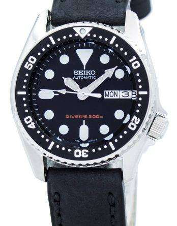Seiko Automatic Diver's 200M Ratio Black Leather SKX013K1-LS4 Men's Watch