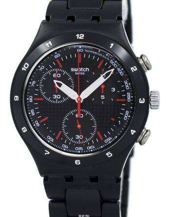 Swatch Irony Black Coated Chorongraph Quartz YCB4019AG Unisex Watch